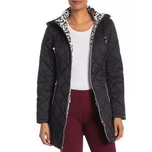 Laundry By Shelli Segal Quilted Zip Parka Jacket
